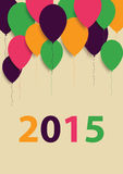 Vector Illustration of Happy New Year Greeting Card. 2015 Royalty Free Stock Photos