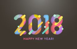 2018 Happy New Year Royalty Free Stock Image