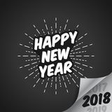 Vector Illustration of Happy New Year 2018 with Vanishing 2017 and 2019 with Bright Background -. Vector Illustration of Happy New Year 2018 with Vanishing 2017 Royalty Free Stock Photos