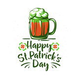 Vector illustration of happy saint Patrick day holiday greeting Stock Photography