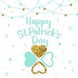 Vector illustration of happy saint Patricks day greeting card Stock Photos