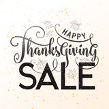 Vector illustration of Happy Thanksgiving Sale, graphic design Stock Photography
