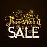 Vector illustration of Happy Thanksgiving Sale, luxury design Royalty Free Stock Photo