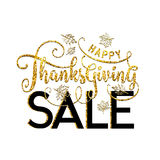 Vector illustration of Happy Thanksgiving Sale, luxury design Stock Photos