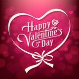 Vector illustration Happy Valentine`s day Stock Photos