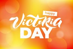 Vector illustration of Happy Victoria Day text for greeting card, invitation, poster. Lettering for holiday in Canada. vector illustration