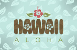 Vector illustration of Hawaii and aloha word Stock Photo