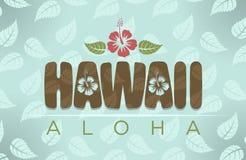 Vector illustration of Hawaii and aloha word Stock Photo