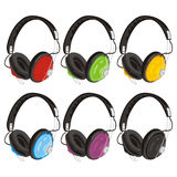 Vector illustration headphones Stock Photography