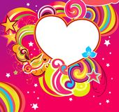 Vector illustration with heart Royalty Free Stock Photography
