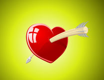 Vector illustration of heart with arrow Royalty Free Stock Images
