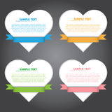 Vector Illustration, Heart Banner for Design and Creative Work Stock Photo