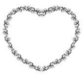 Vector illustration of a heart border Royalty Free Stock Images