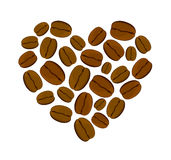Vector illustration of heart of coffee beans  Stock Photo