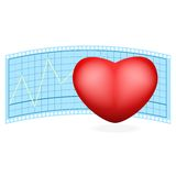 Vector illustration of a heart Stock Photos