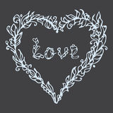 Vector illustration of heart. Hand drawn love doodle. Stock Photography