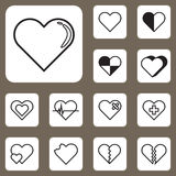 Vector Illustration, Heart Love Icon for Design and Creative Wor Stock Photos
