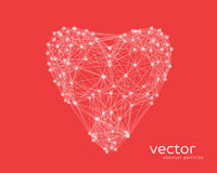 Vector illustration of heart on red background Royalty Free Stock Photos