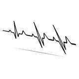 Vector Illustration heart rhythm ekg . Royalty Free Stock Photo