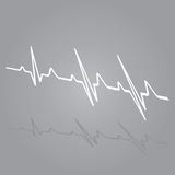 Vector Illustration heart rhythm ekg . Royalty Free Stock Photos