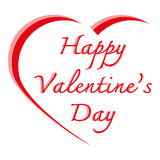 Vector illustration ,Heart shape and text valentine on white bac Stock Images
