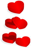 Vector illustration of heart shaped valentine box Stock Images