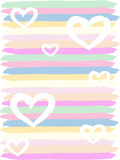 Vector illustration with a heart for Valentine`s Day. Vector background. Romantic wallpaper Stock Photography