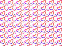 Vector illustration with a heart for Valentine`s Day. Wallpaper with hearts. Seamless pattern Stock Photography