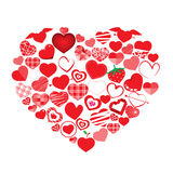 Vector illustration of heart vector Royalty Free Stock Photo