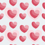 Vector Illustration of Hearts. Vector illustration of heart, texture Stock Photography