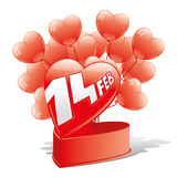 Vector illustration. Hearts. Royalty Free Stock Images