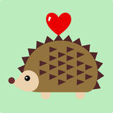 Vector Illustration of hedgehog Stock Photography