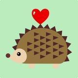 Vector Illustration of hedgehog Stock Photography