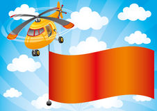 Vector illustration. Helicopter. Royalty Free Stock Photography