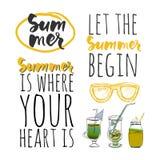 Vector illustration.Hello summer. Happy summer days. Let the summer begin. Stock Photos