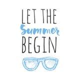 Vector illustration.Hello summer. Happy summer days. Let the summer begin. Stock Image