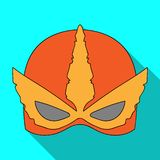 Vector design of hero and mask sign. Collection of hero and superhero vector icon for stock. Stock Illustration