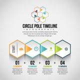 Hexagon Horizontal Peel Infographic Royalty Free Stock Image