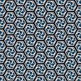 Vector illustration of hexagonal seamless repeat patterns. stock illustration
