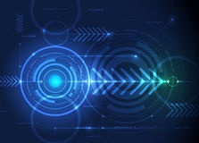 Vector illustration  hi-tech blue abstract technology background Royalty Free Stock Photography