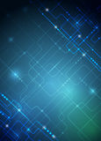Vector illustration  hi-tech blue abstract technology background Stock Images