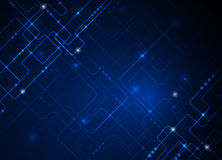 Vector illustration  hi-tech blue abstract technology background Royalty Free Stock Photos