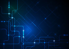 Vector illustration  hi-tech blue abstract technology background Royalty Free Stock Image