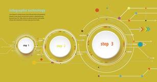 Vector illustration Hi-tech digital and engineering telecoms tec Stock Photography