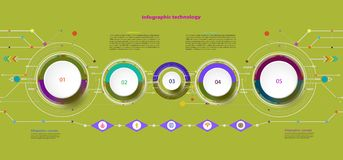 Vector illustration Hi-tech digital and engineering telecoms technology for infographic. Vector illustration Hi-tech digital and engineering telecoms technology vector illustration