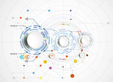 Vector illustration Hi-tech digital and engineering telecoms technology Royalty Free Stock Images