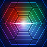 Vector illustration Hi-tech digital technology concept, abstract background Stock Photo