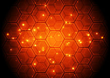 Vector illustration Hi-tech digital technology concept, abstract background. Inovation Stock Images