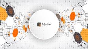 Vector illustration, hi-tech digital technology and engineering, digital technology concept. royalty free illustration