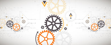 Vector illustration, Hi-tech digital technology and engineering Stock Photography
